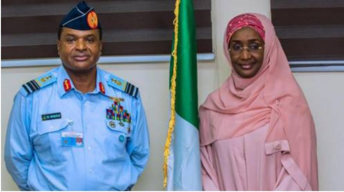 After being rumoured to be President Buhari's Mistress, Humanitarian Affairs Minister, Sadiya Farouq reportedly marry Chief Of Air Staff in secret ceremony
