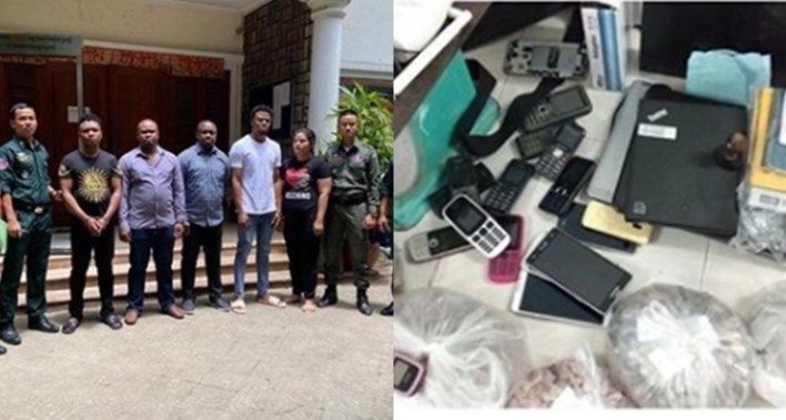 Alleged fraud: Police arrest four Nigerians in Cambodia