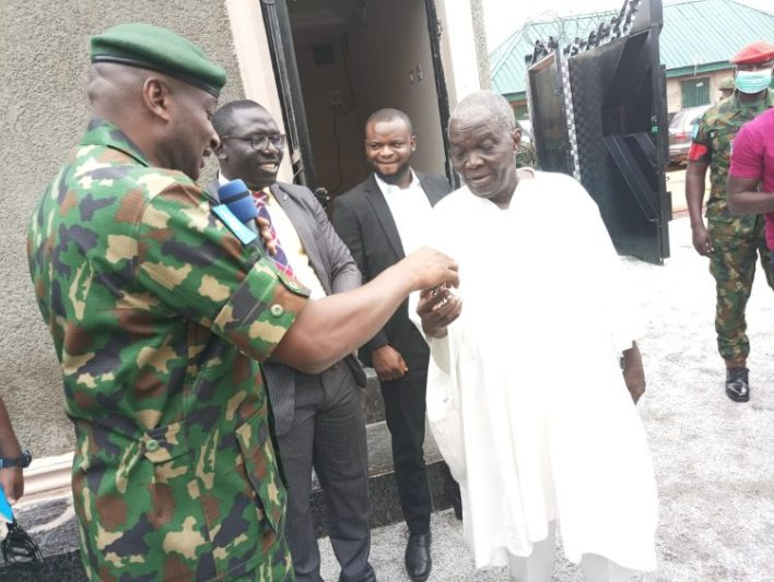 Army Chief donates 3-bedroom bungalow to 85-year-old war veteran