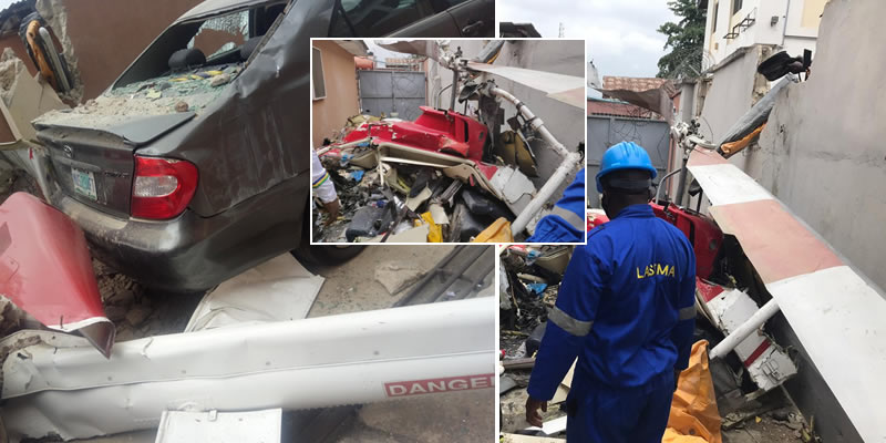 At least 3 confirmed dead in Lagos helicopter crash (photos)