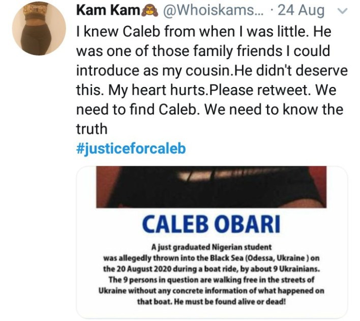 Caleb Obari found dead weeks after going missing mysteriously in Ukraine