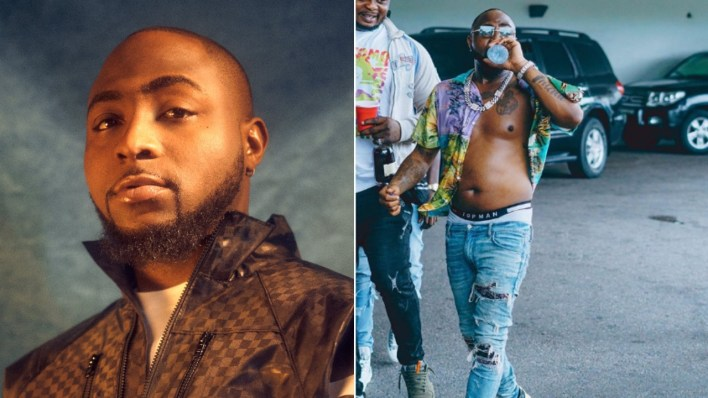 Davido mocks men with six packs, Nigerians react