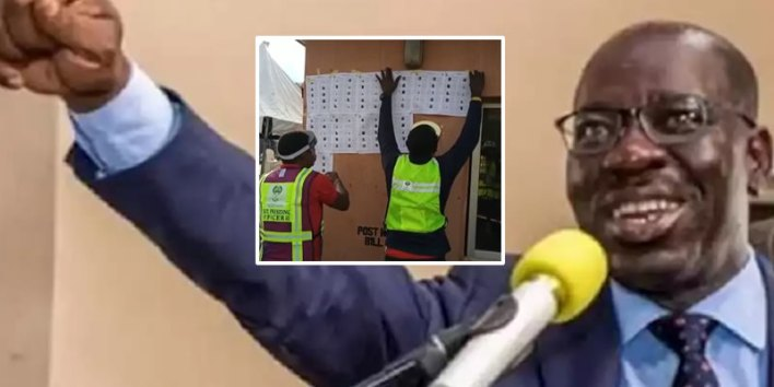 Edo Decides: Obaseki in early win, leads Ize-Iyamu with over 14,000 votes as INEC announces 4 LGA results