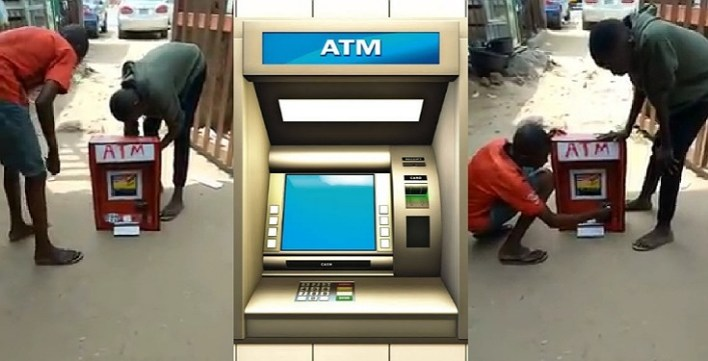 Nigerian Boy Manufactures A Locally Made ATM That Dispenses Cash In Imo