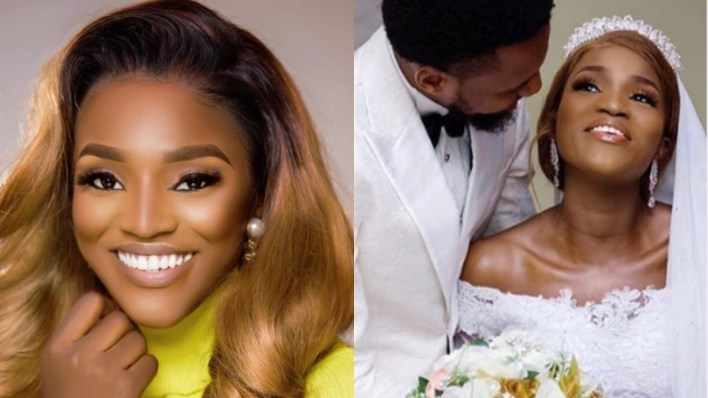 Nigerian celebrities react to actress, Bukunmi Oluwasina's secret wedding