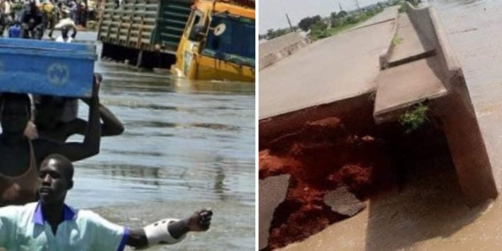 PHOTOS: Flood collapses Margai bridge in Sokoto, disconnects communities