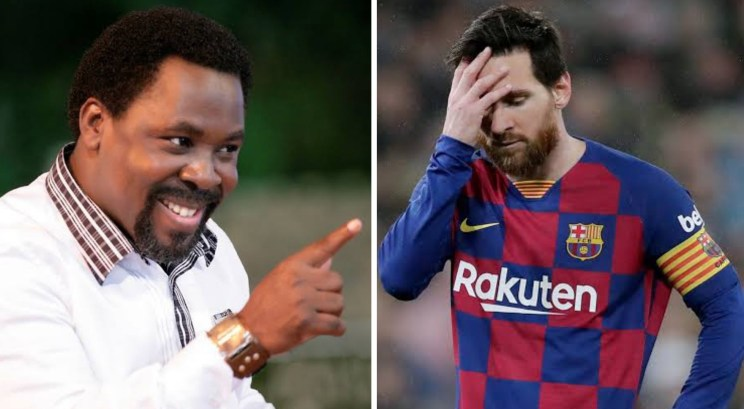 T.B Joshua sends message to Messi as player unlikely to change mind on exit at Barcelona