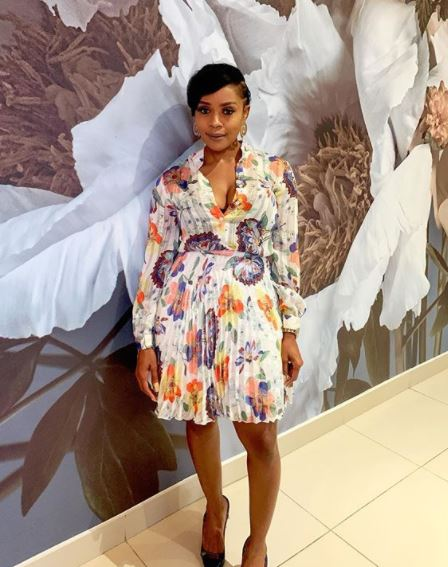 Thembi Seete shares beautiful photo as she crushes on herself