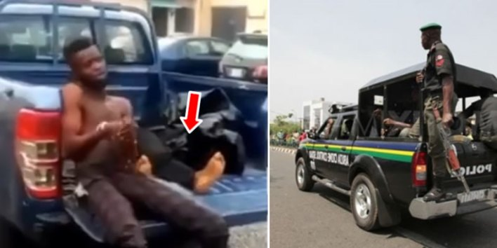 VIDEO: Driver in tears after knocking bike rider dead while evading police arrest