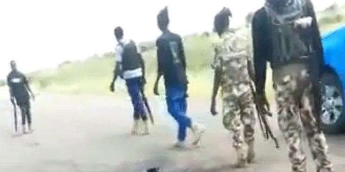 VIDEO: Soldiers, police, count remains of colleagues inside bush after Friday's attack on Gov Zulum's convoy