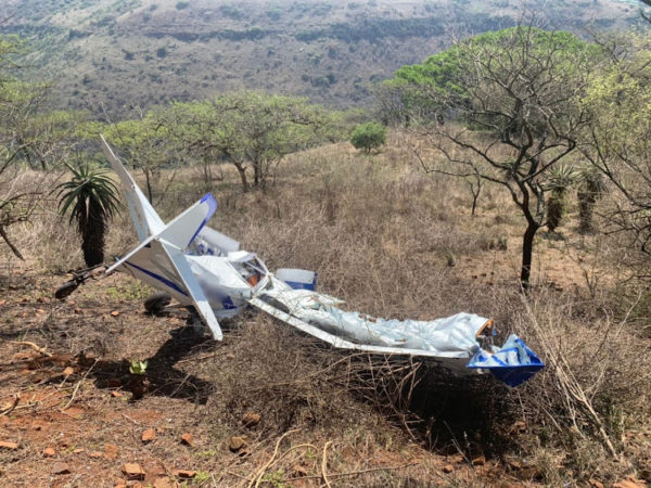 Two killed in light aircraft crash in KZN Midlands