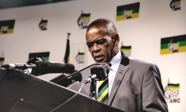 Specific ANC members gather opposite Luthuli House to support Magashule
