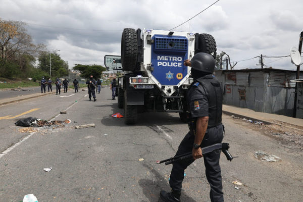 Man dies after 'running into' armoured police vehicle in KwaMashu protest
