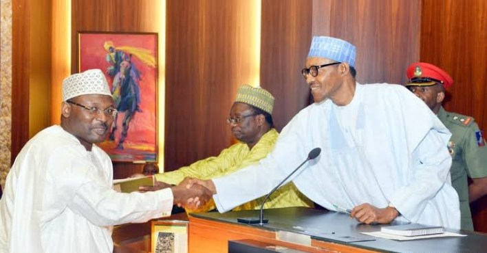 BREAKING: Buhari nominates Yakubu for second term as INEC chairman