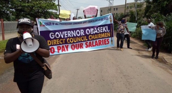 Edo: APC councillors protest suspension, non-payment of salaries by Obasek