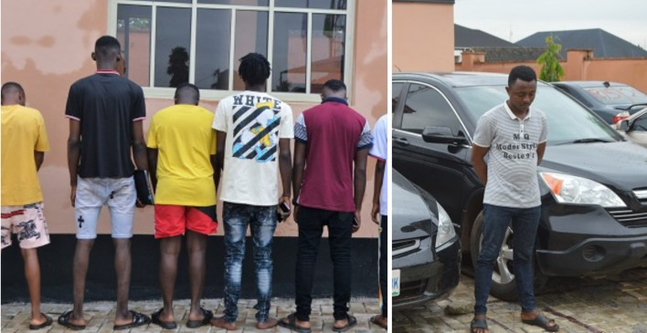 """EFCC arrests nine suspected """"Yahoo boys"""" in Abeokuta, recovers cars, laptops, others"""