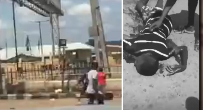 #EndSARS: Four reported dead, two Police officers feared killed in hoodlums/Police clash in Ibadan (VIDEO)