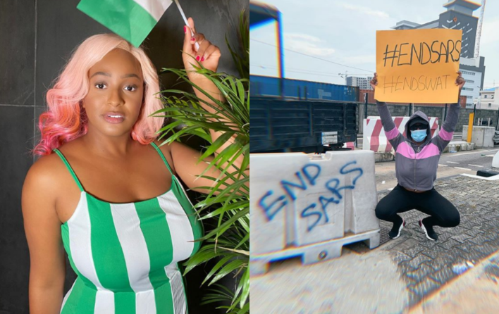 Finally, DJ Cuppy joins #ENDSARS protest, says it's for her children