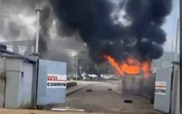 Hoodlums set Television Continental, TVC on fire