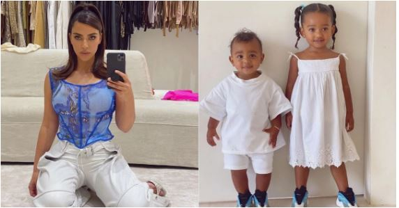Kim Kardashian shares adorable photos of Chicago and Psalm in matching outfit