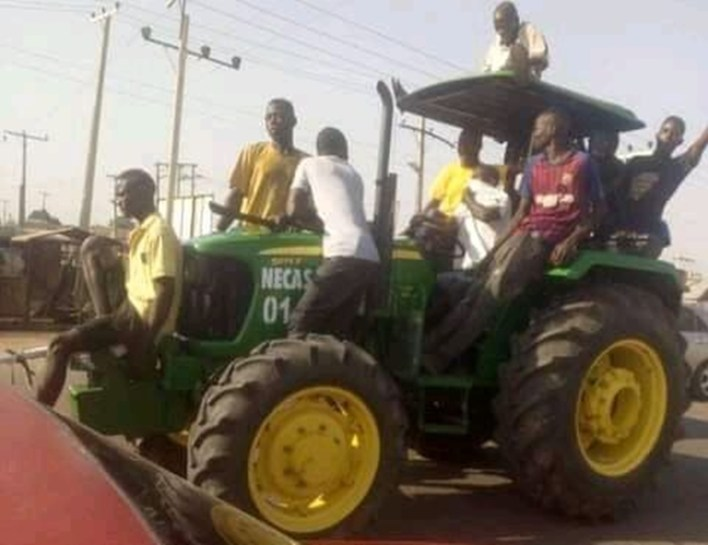 Looters Roll Away Tractors, Ransack Private Stores In Yola