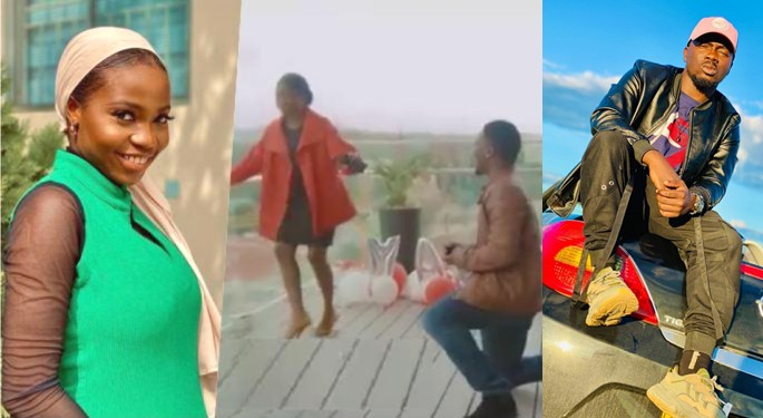 VIDEO: Moment Instagram Comedian, Taaooma's Boyfriend Proposed To Her On A Rooftop In Namibia