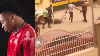 My brother has swelling in his brain – Oxlade reveals after his brother was dragged on the floor by policemen
