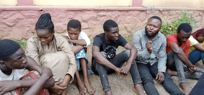 Ogun Police parade 7 suspects for allegedly hacking, stealing N1.5m from bank account