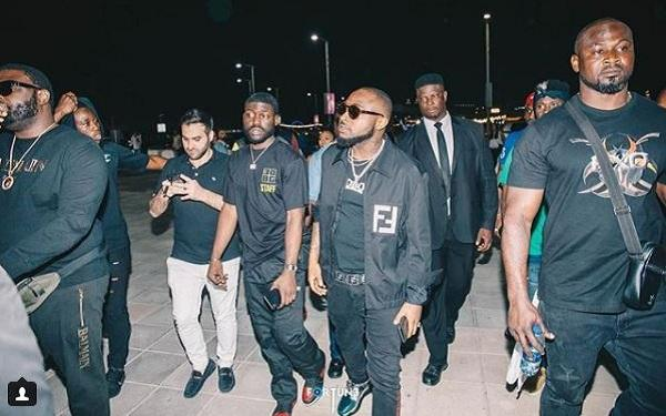 Singer Davido and crew allegedly bounced from entering a bar in Ghana