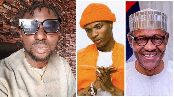 'Small man, why not face your music' – Blackface hits Wizkid for calling out Buhari