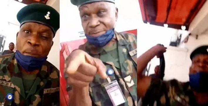 Soldier who flogged lady at an ATM stand has been arrested