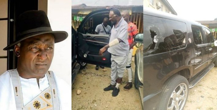 PHOTOS: Veteran Actor, Clem Ohameze Reportedly Attacked By Hoodlums In Uyo