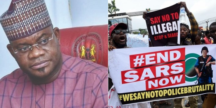 See Reactions As Gov Yahaya Bello Volunteers To Be The Leader Of #EndSars Movement