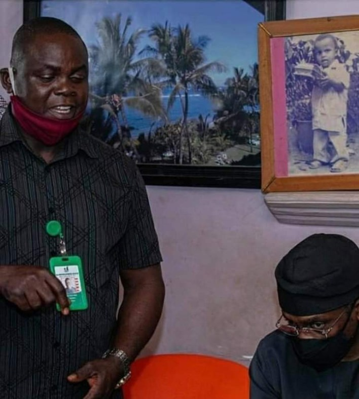 PHOTOS: Gbajabiamila Visits Family Of Vendor Shot By Security Aide
