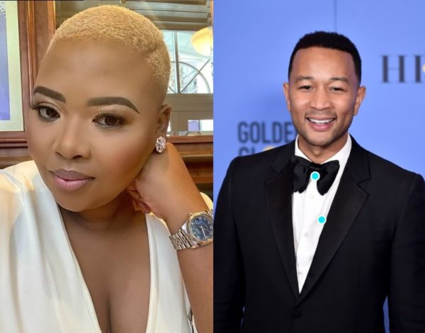 Anele Mdoda excited over chatting with John Legend.