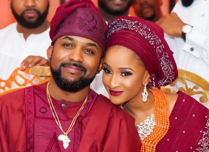 Banky W and Adesua write touching note to each other on third wedding anniversary