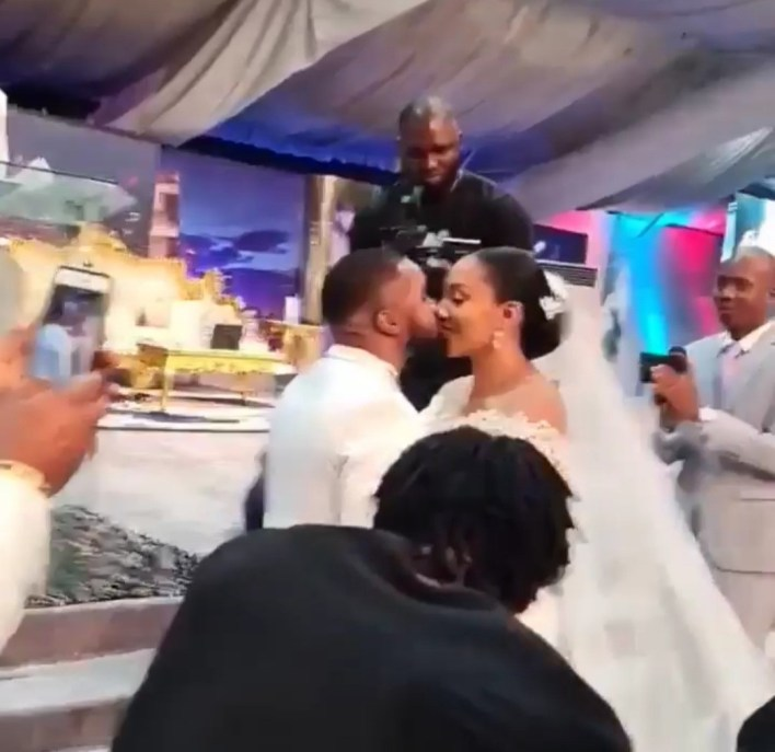 First photos and videos from actor Williams Uchemba's church wedding