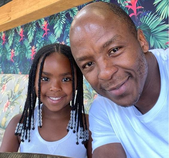 Kabelo Mabalane takes his beautiful daughter, Zoe on a coffee date
