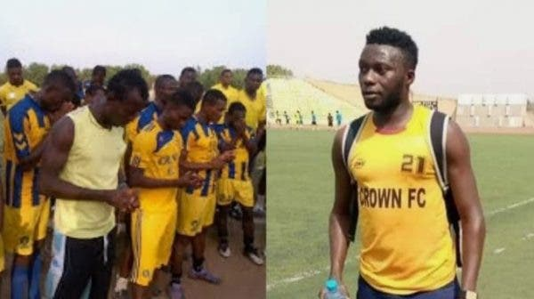 Nigerian footballer slumps and dies during training (Photo)