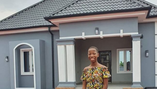 PHOTOS: 10-year-old comedienne, Emmanuella unveils first house, dedicates it to her mum