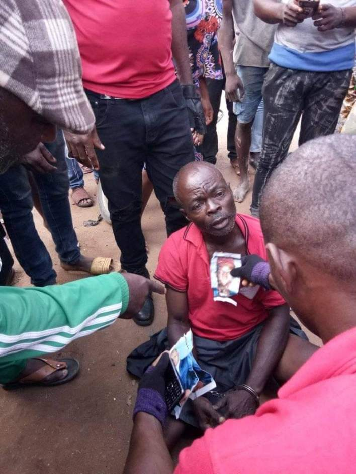 Youths apprehend suspected ritualist in Imo community, victims' photos recovered from shrine