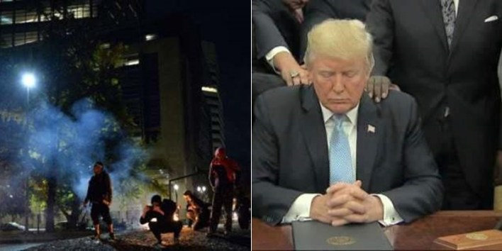 US Election: Violence At Oregon As Protesters Want Trump Out Of Office