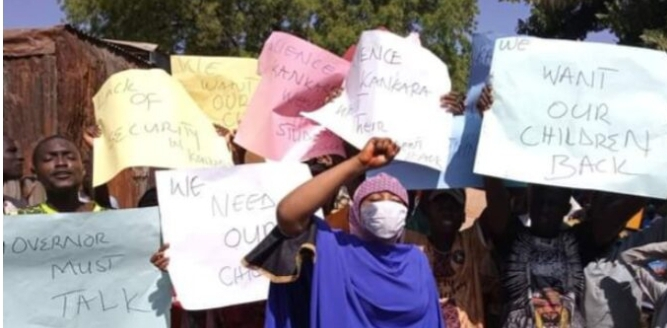 Residents storm streets to protest abduction of students in Katsina