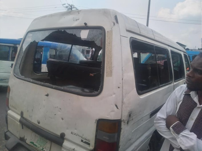 Policemen allegedly beat, strip driver and destroy his vehicle over refusal to pay bribe in Port Harcourt