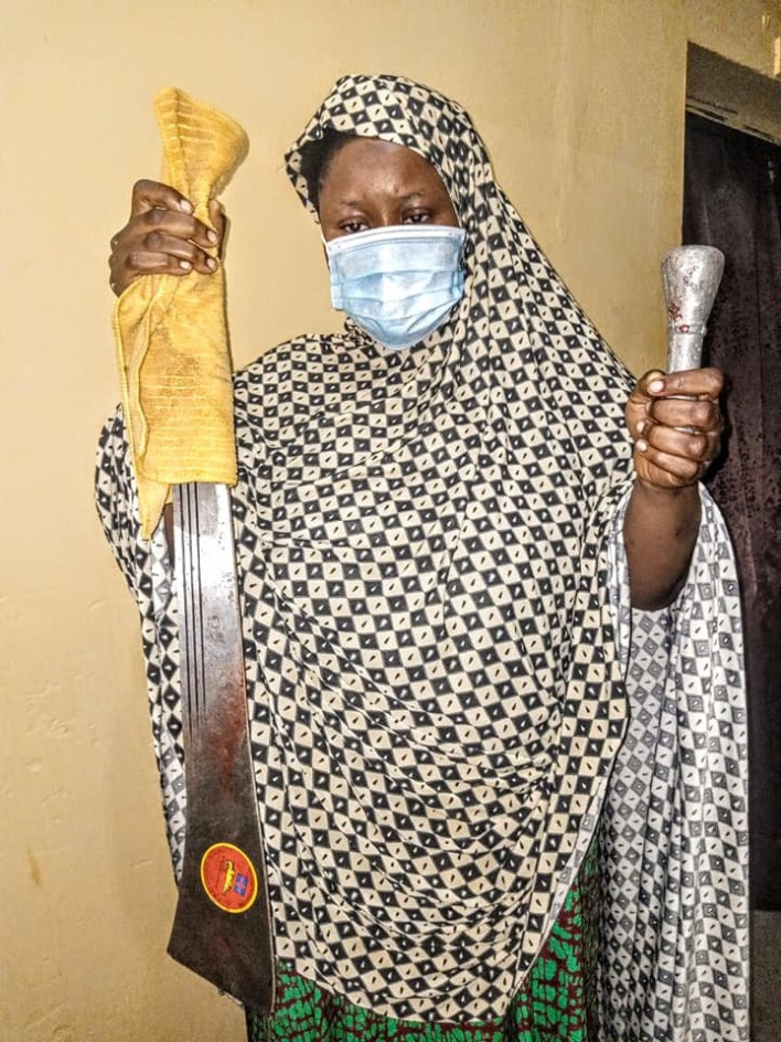 PHOTOS: Woman who hacked her two children to death in Kano pleads not guilty