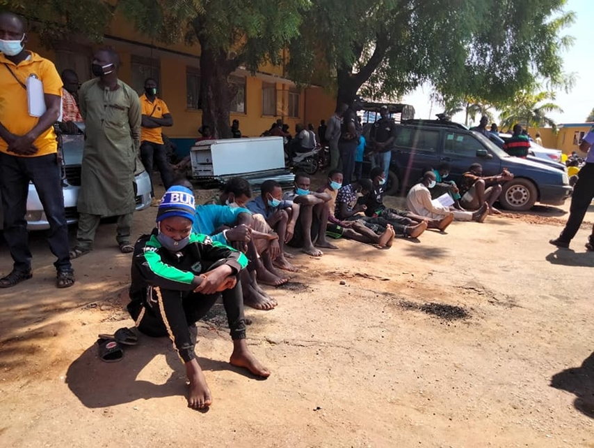 Photos: Police parade organizers of Kaduna Sex Party