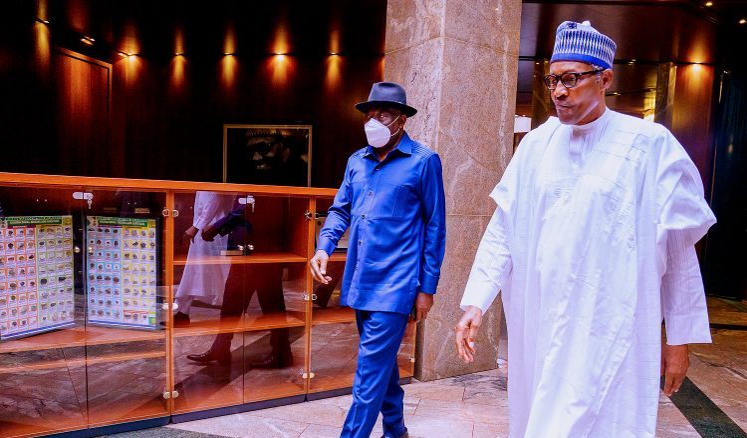 Jonathan briefs Buhari on political developments in Gambia (PHOTOS)