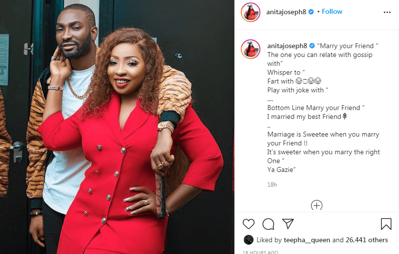 Marriage is sweeter when you marry your friend — Actress Anita Joseph