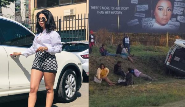 Kelly Khumalo trends as a car accident occurs near her billboard
