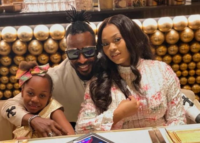 Singer 9ice, his wife and daughter vacation in Dubai (photos)